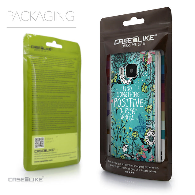 Packaging - CASEiLIKE HTC One M9 back cover Blooming Flowers Turquoise 2249