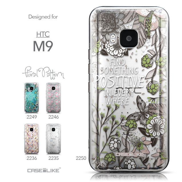 Collection - CASEiLIKE HTC One M9 back cover Blooming Flowers 2250