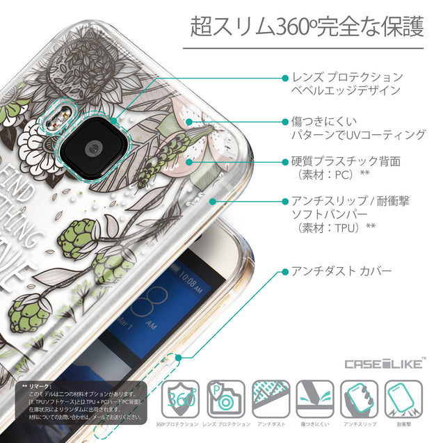 Details in Japanese - CASEiLIKE HTC One M9 back cover Blooming Flowers 2250