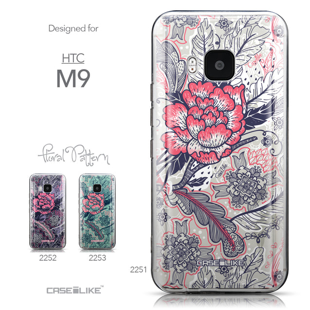 Collection - CASEiLIKE HTC One M9 back cover Vintage Roses and Feathers Beige 2251