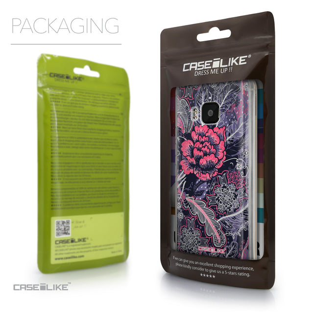 Packaging - CASEiLIKE HTC One M9 back cover Vintage Roses and Feathers Blue 2252