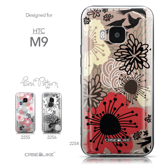 Collection - CASEiLIKE HTC One M9 back cover Japanese Floral 2254