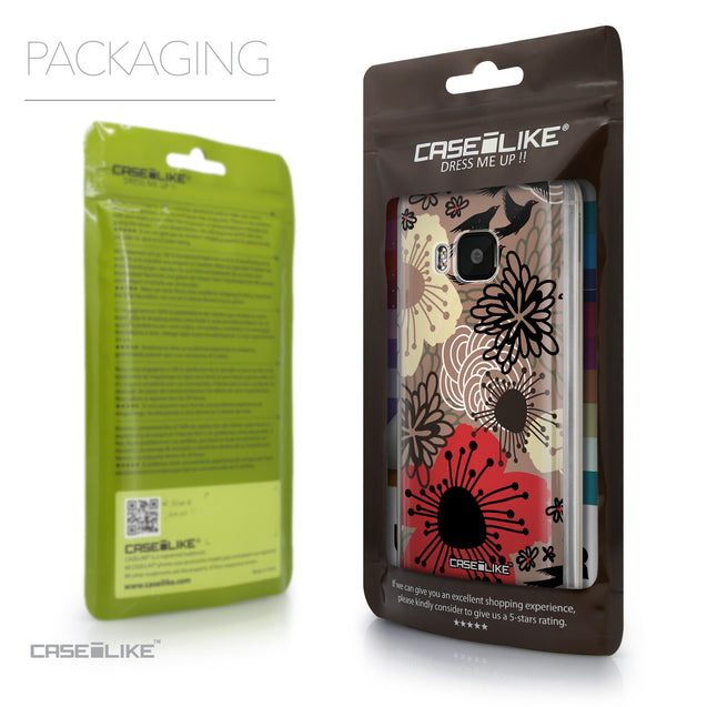 Packaging - CASEiLIKE HTC One M9 back cover Japanese Floral 2254