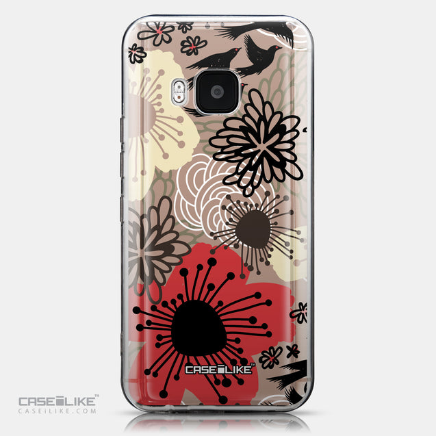 CASEiLIKE HTC One M9 back cover Japanese Floral 2254