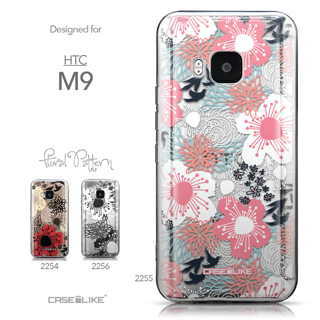 Collection - CASEiLIKE HTC One M9 back cover Japanese Floral 2255