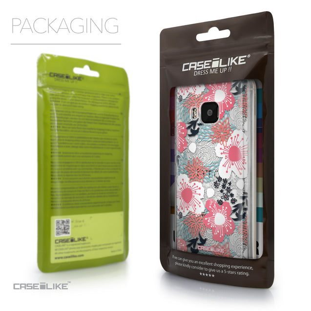Packaging - CASEiLIKE HTC One M9 back cover Japanese Floral 2255