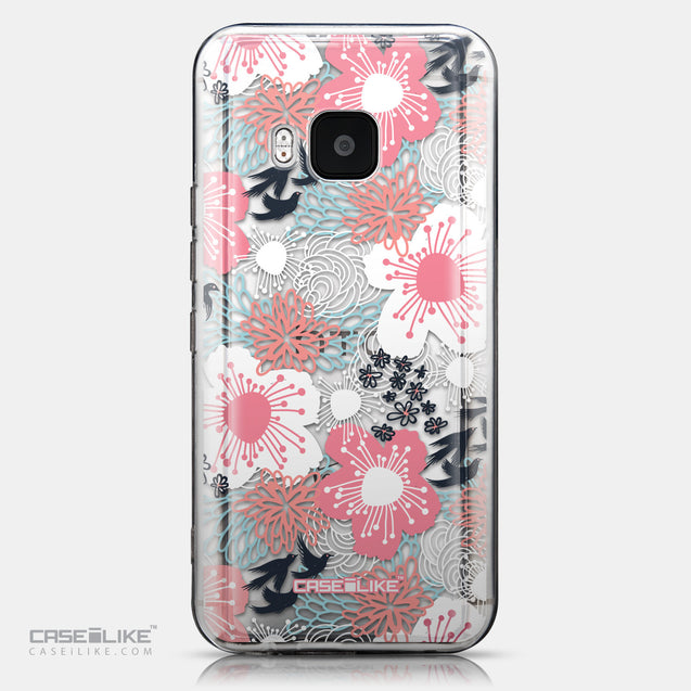 CASEiLIKE HTC One M9 back cover Japanese Floral 2255