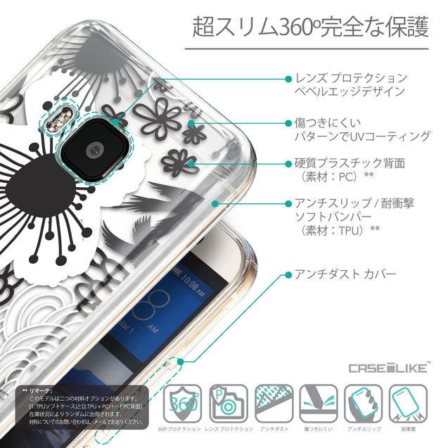Details in Japanese - CASEiLIKE HTC One M9 back cover Japanese Floral 2256