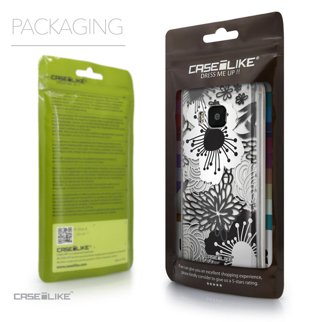Packaging - CASEiLIKE HTC One M9 back cover Japanese Floral 2256