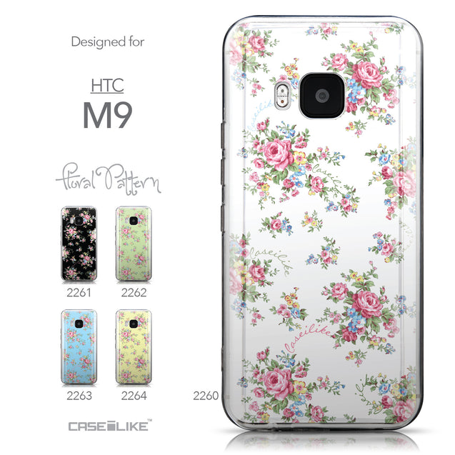 Collection - CASEiLIKE HTC One M9 back cover Floral Rose Classic 2260
