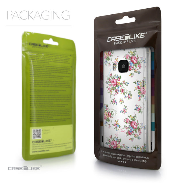 Packaging - CASEiLIKE HTC One M9 back cover Floral Rose Classic 2260