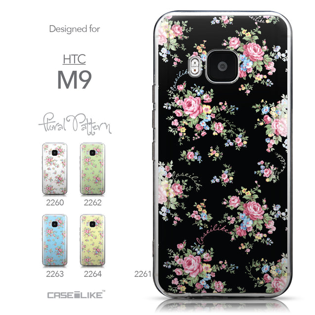 Collection - CASEiLIKE HTC One M9 back cover Floral Rose Classic 2261