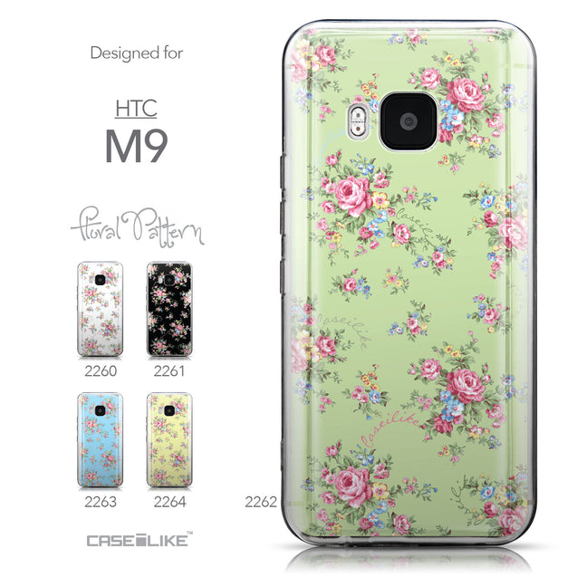 Collection - CASEiLIKE HTC One M9 back cover Floral Rose Classic 2262