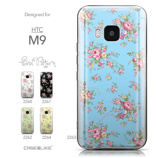 Collection - CASEiLIKE HTC One M9 back cover Floral Rose Classic 2263
