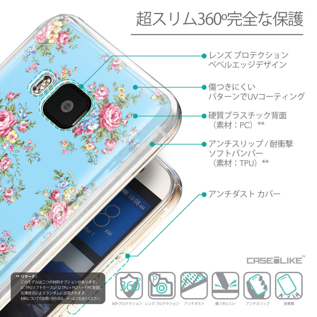Details in Japanese - CASEiLIKE HTC One M9 back cover Floral Rose Classic 2263