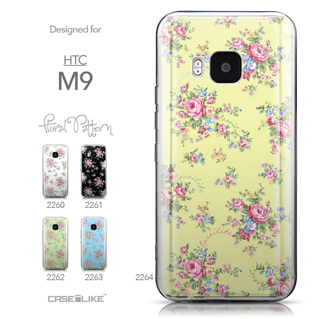 Collection - CASEiLIKE HTC One M9 back cover Floral Rose Classic 2264