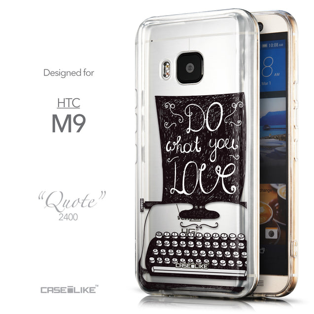 Front & Side View - CASEiLIKE HTC One M9 back cover Quote 2400