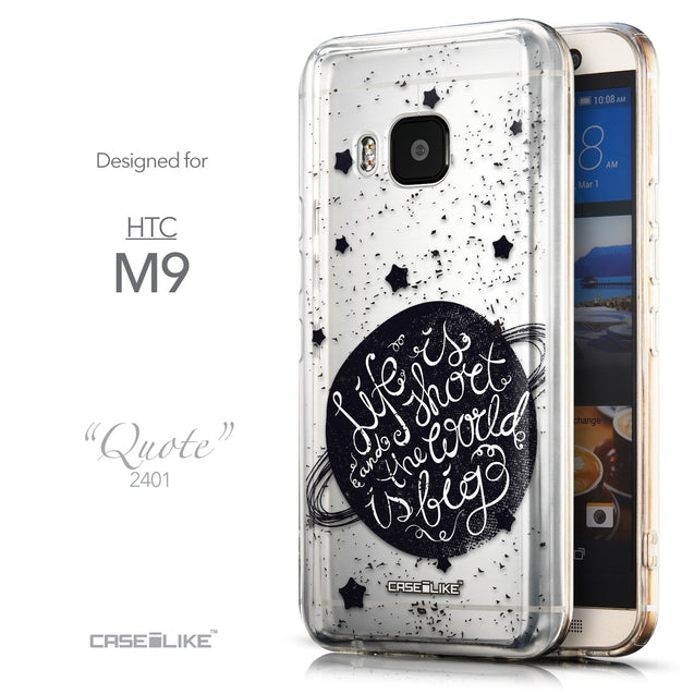 Front & Side View - CASEiLIKE HTC One M9 back cover Quote 2401