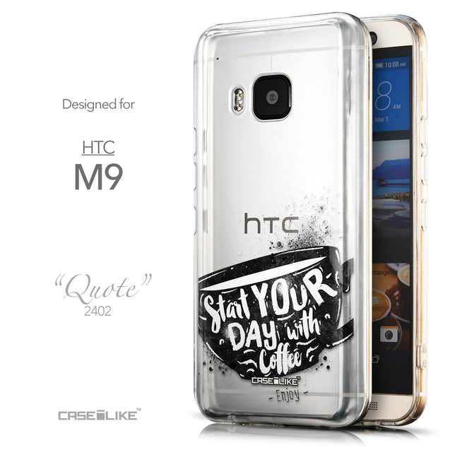 Front & Side View - CASEiLIKE HTC One M9 back cover Quote 2402