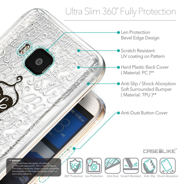 Details in English - CASEiLIKE HTC One M9 back cover Indian Tribal Theme Pattern 2053