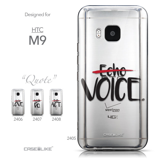 Collection - CASEiLIKE HTC One M9 back cover Quote 2405