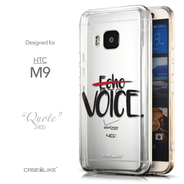 Front & Side View - CASEiLIKE HTC One M9 back cover Quote 2405