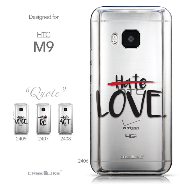 Collection - CASEiLIKE HTC One M9 back cover Quote 2406