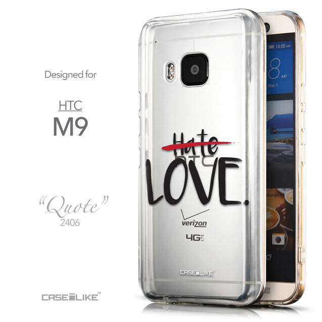Front & Side View - CASEiLIKE HTC One M9 back cover Quote 2406
