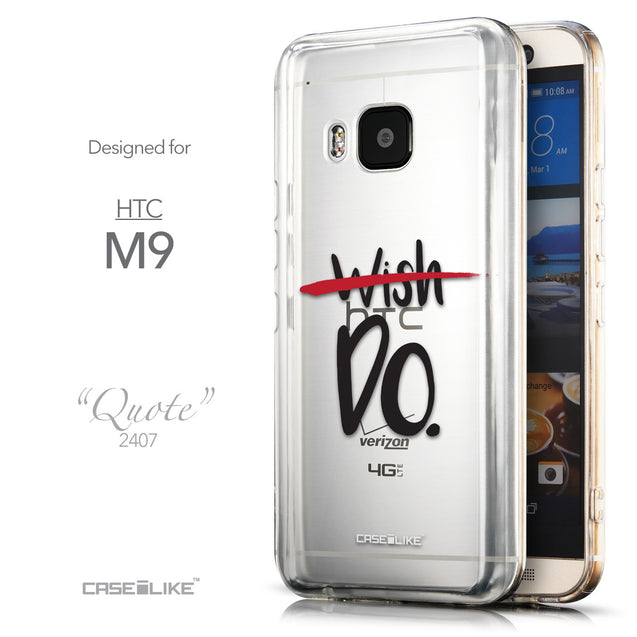 Front & Side View - CASEiLIKE HTC One M9 back cover Quote 2407