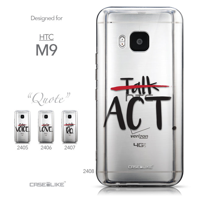 Collection - CASEiLIKE HTC One M9 back cover Quote 2408