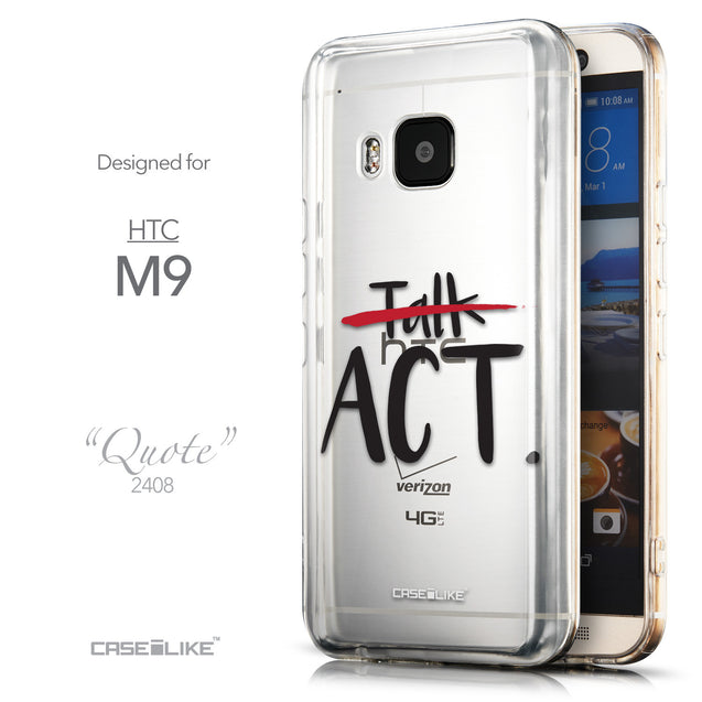 Front & Side View - CASEiLIKE HTC One M9 back cover Quote 2408
