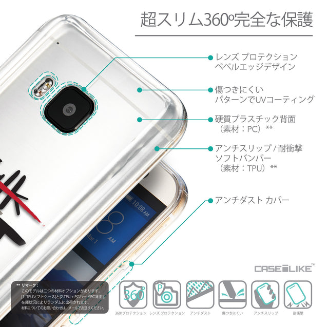 Details in Japanese - CASEiLIKE HTC One M9 back cover Quote 2408