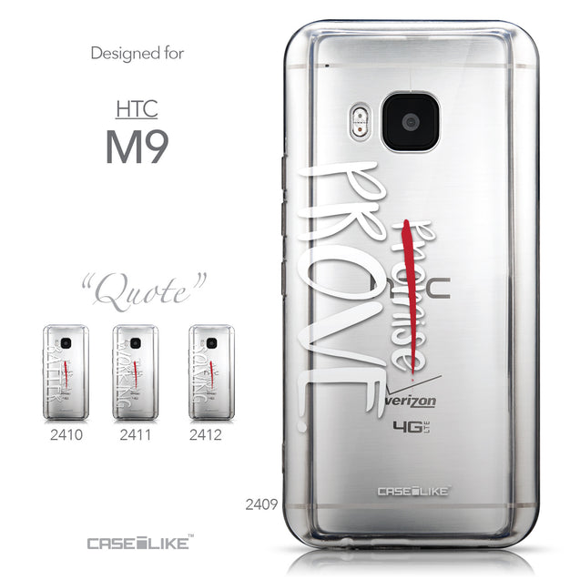Collection - CASEiLIKE HTC One M9 back cover Quote 2409