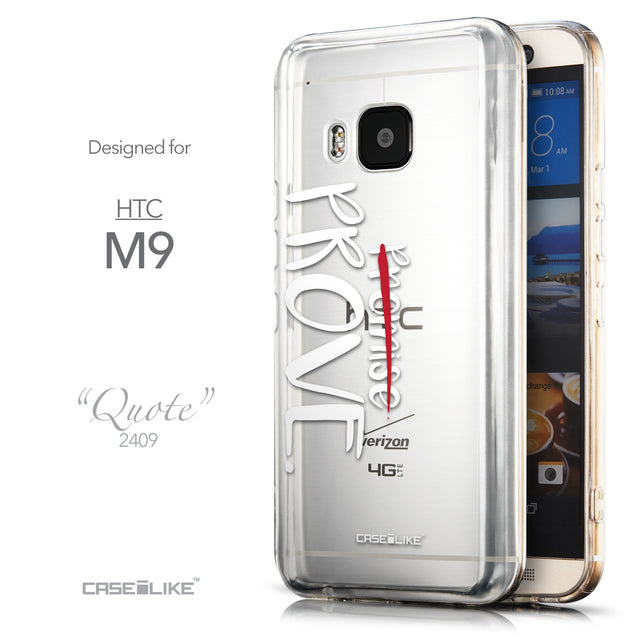 Front & Side View - CASEiLIKE HTC One M9 back cover Quote 2409