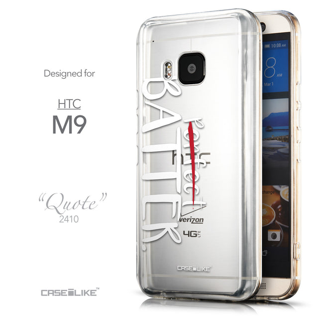 Front & Side View - CASEiLIKE HTC One M9 back cover Quote 2410