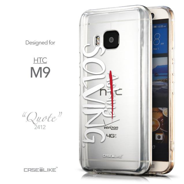 Front & Side View - CASEiLIKE HTC One M9 back cover Quote 2412