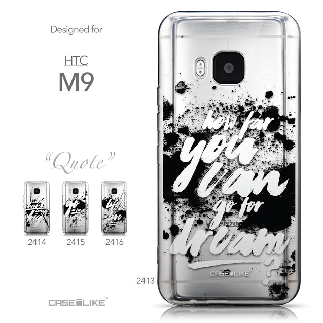 Collection - CASEiLIKE HTC One M9 back cover Quote 2413