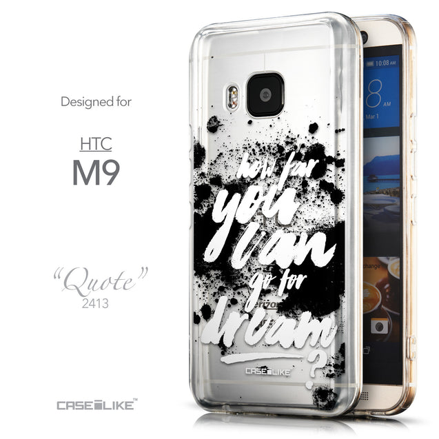 Front & Side View - CASEiLIKE HTC One M9 back cover Quote 2413