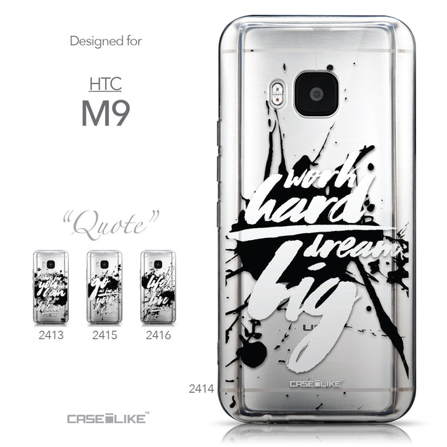 Collection - CASEiLIKE HTC One M9 back cover Quote 2414