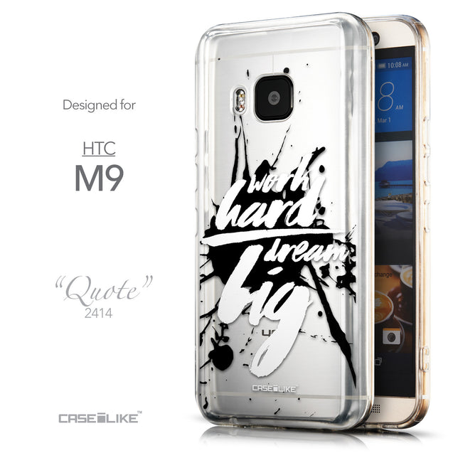 Front & Side View - CASEiLIKE HTC One M9 back cover Quote 2414