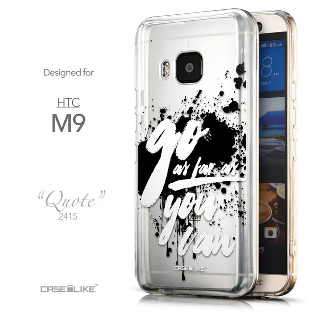 Front & Side View - CASEiLIKE HTC One M9 back cover Quote 2415