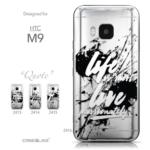 Collection - CASEiLIKE HTC One M9 back cover Quote 2416
