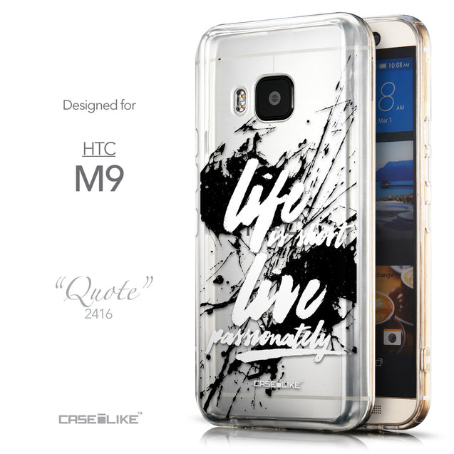 Front & Side View - CASEiLIKE HTC One M9 back cover Quote 2416