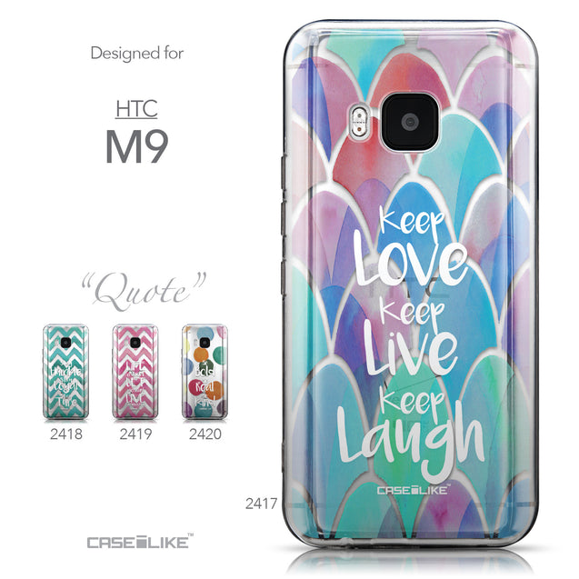 Collection - CASEiLIKE HTC One M9 back cover Quote 2417