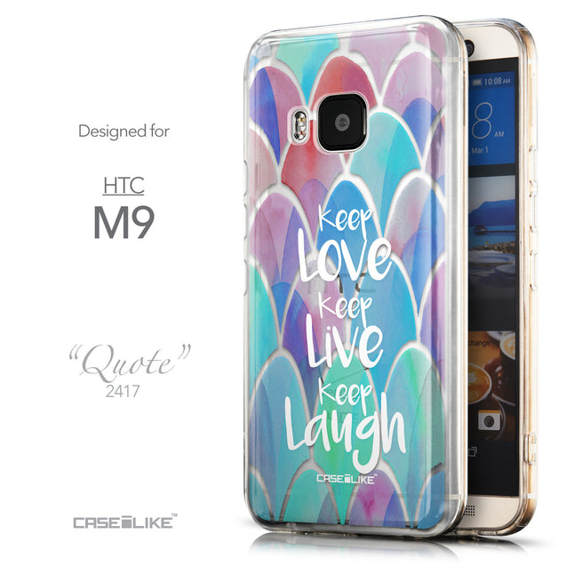 Front & Side View - CASEiLIKE HTC One M9 back cover Quote 2417