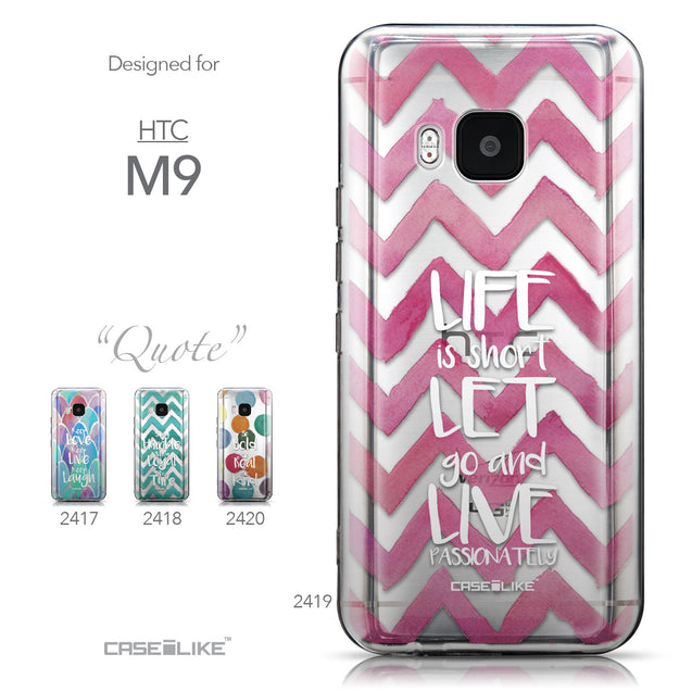 Collection - CASEiLIKE HTC One M9 back cover Quote 2419