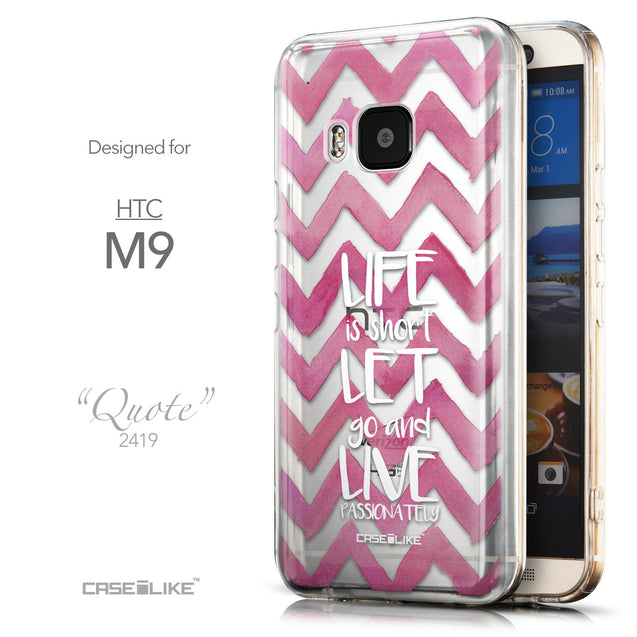 Front & Side View - CASEiLIKE HTC One M9 back cover Quote 2419