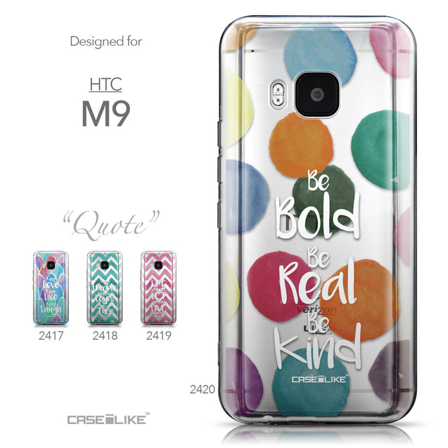 Collection - CASEiLIKE HTC One M9 back cover Quote 2420