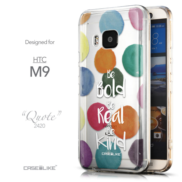 Front & Side View - CASEiLIKE HTC One M9 back cover Quote 2420