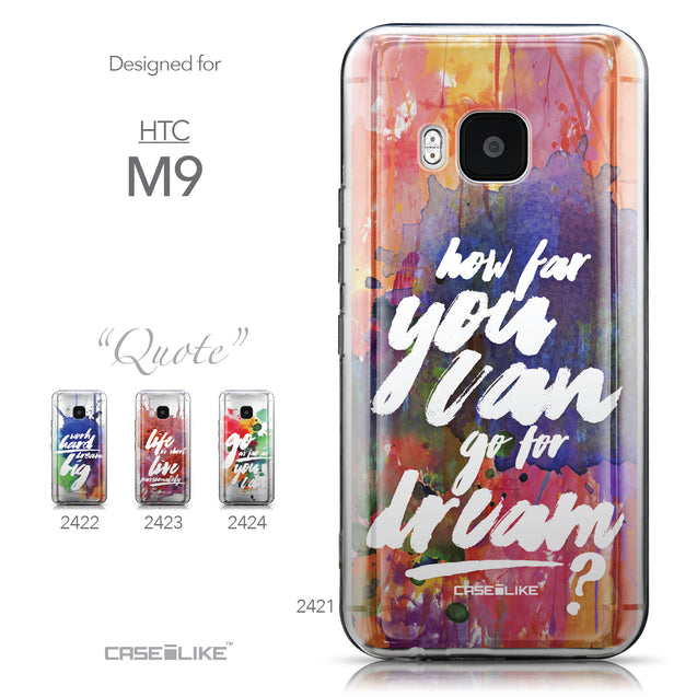 Collection - CASEiLIKE HTC One M9 back cover Quote 2421